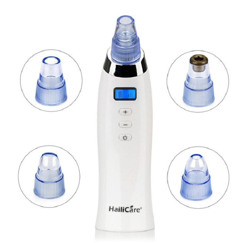 Vacuum Blackhead Acne Pimple Suction Machine with 4 Heads and Diamond Dermabrasion