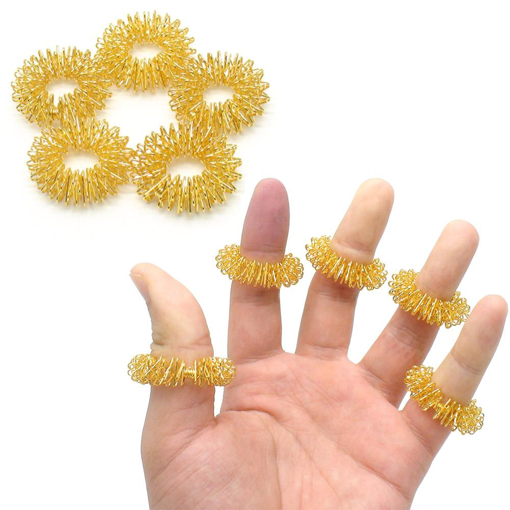 1 Set (5 pcs) Finger Massage Ring for Acupuncture Health Care