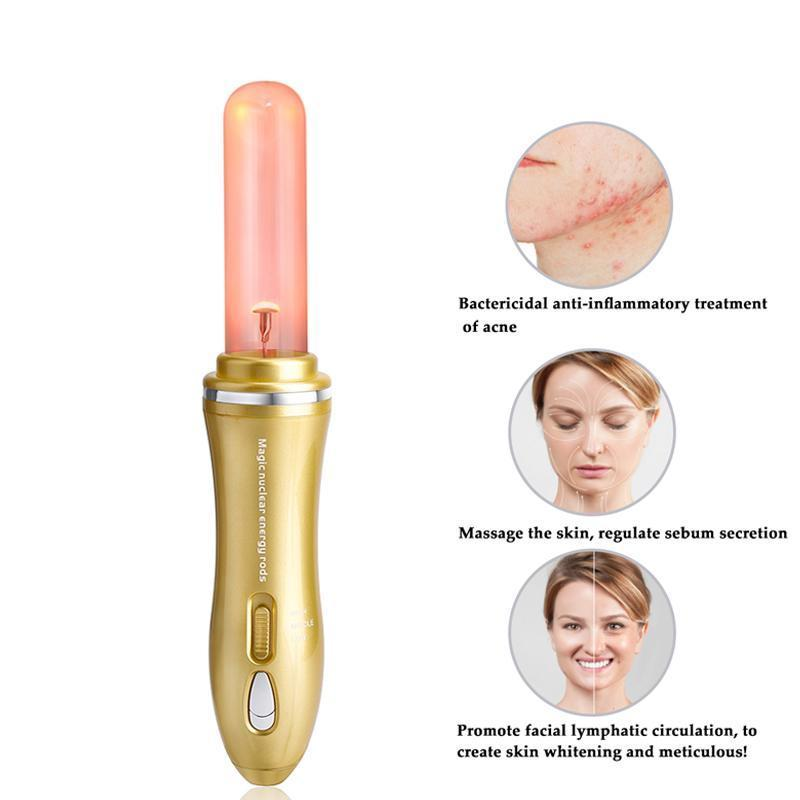 High Frequency Facial Electrode Wand Electrotherapy Spot Remover Facial Skin Care