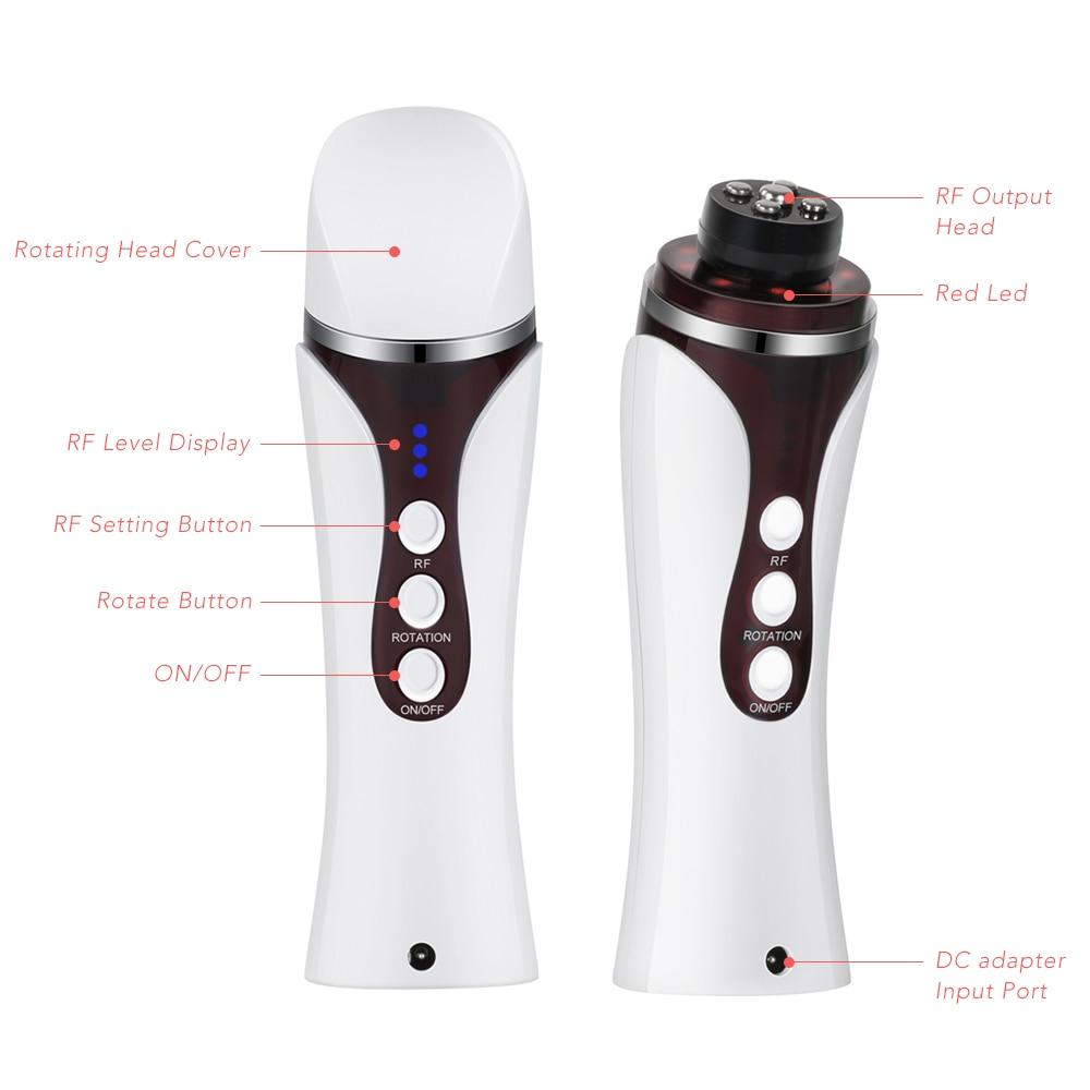 Professional RF Far Infrared Facial Skin Care Beauty Machine with Auto Rotating Massage Head