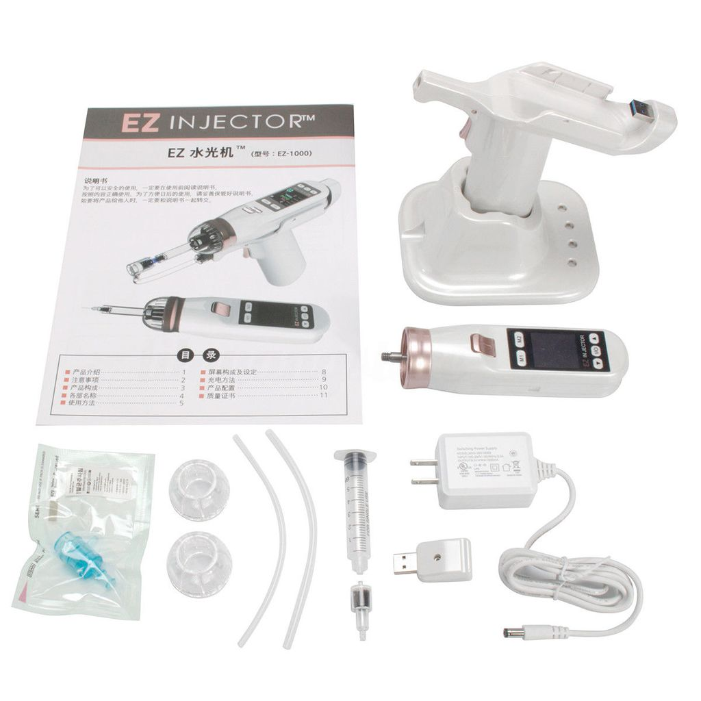 Hydro Vacuum Mesotherapy Gun Meso Water Injector Facial Skin Care Beauty Device