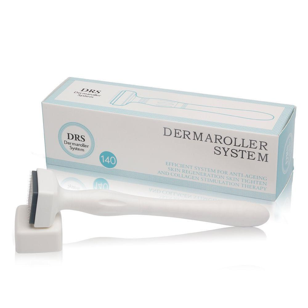 DRS 140 Microneedle Derma Roller Stamp Skin Care Therapy Anti Aging Scar Wrinkle
