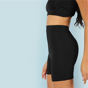 Black Cut and Sew Leggings for Women (Plain Fitness Sporting) - Funs & Good Women's fashion including dresses, T-shirts, sweatshirts, hoodies, leggings, skirts, bodysuits and more.