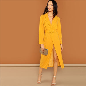 Ginger Waist Belted Wrap Notched Neck Asymmetrical Maxi Dress for Women - Funs & Good Women's fashion including dresses, T-shirts, sweatshirts, hoodies, leggings, skirts, bodysuits and more.