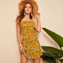 Load image into Gallery viewer, Ginger Shirred Back Ditsy Floral Shirred Back Cami Dress for Women - Funs & Good Women's fashion including dresses, T-shirts, sweatshirts, hoodies, leggings, skirts, bodysuits and more.