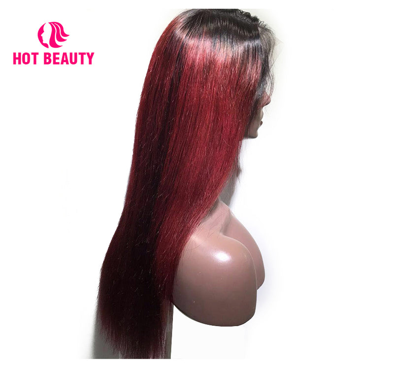 Special Offer-Frontal Wig Virgin Human Hair Wig Straight 1b/99j