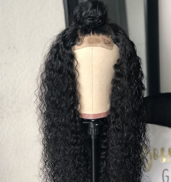 Closure Wig Virgin Human Hair Deep Curl
