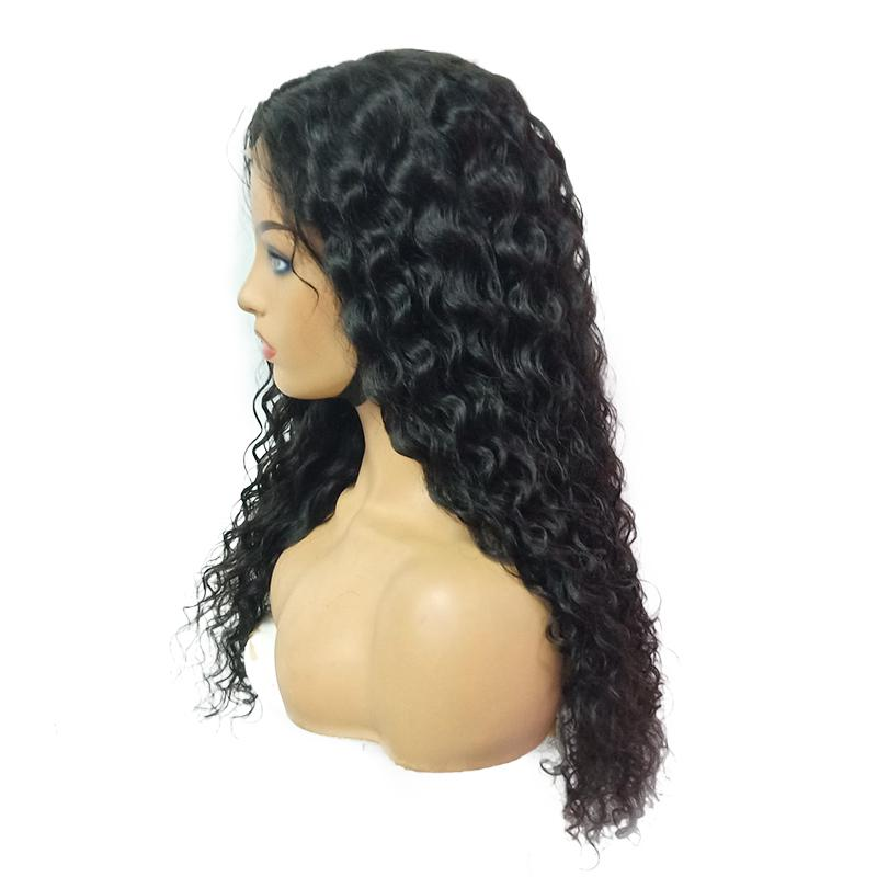 Closure Wig Virgin Human Hair Water Wave