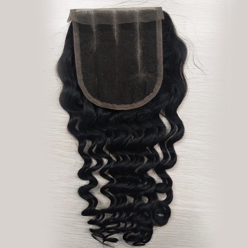 4*4 Top Lace Closure Deep Curl Brazilian virgin hair