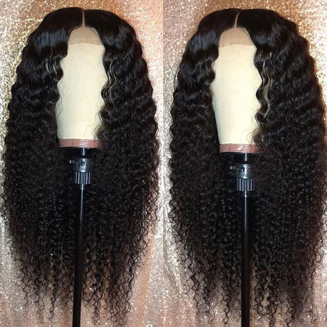 Frontal Wig Virgin Human Hair Deep Curl