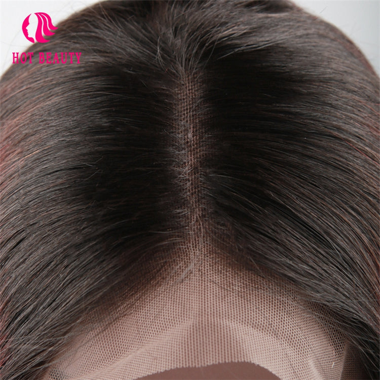 Frontal Wig Virgin Human Hair Bob Wig Straight 1b/99j