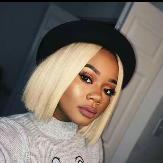 613 Blonde Bob Wig Frontal Lace 100% Virgin Human Hair