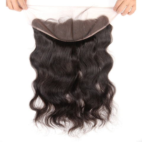 Pre Plucked 4*13 Frontal 1b/99j Straight Brazilian virgin hair