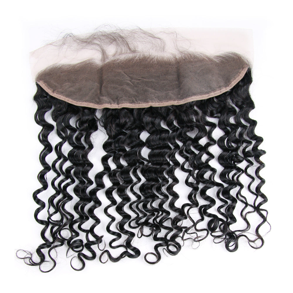 Pre Plucked 4*13 Frontal Deep Curl Brazilian virgin hair