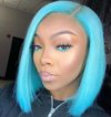 Frontal Wig 100% Virgin Human Hair Straight With Clip In Bang
