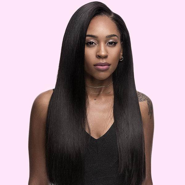 Front Lace Wig Virgin Human Hair Straight