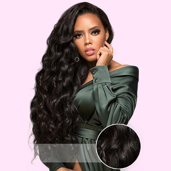 Full Lace Wig Virgin Human Hair Water Wave
