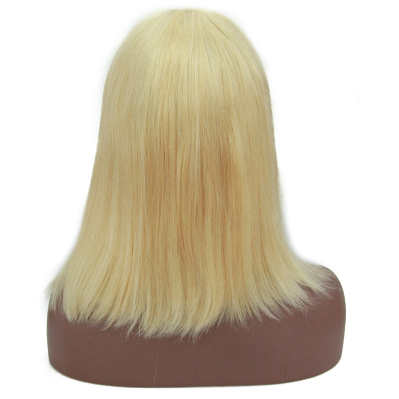 Front Lace Wig Virgin Human Hair Bob Wig 613 Blonde