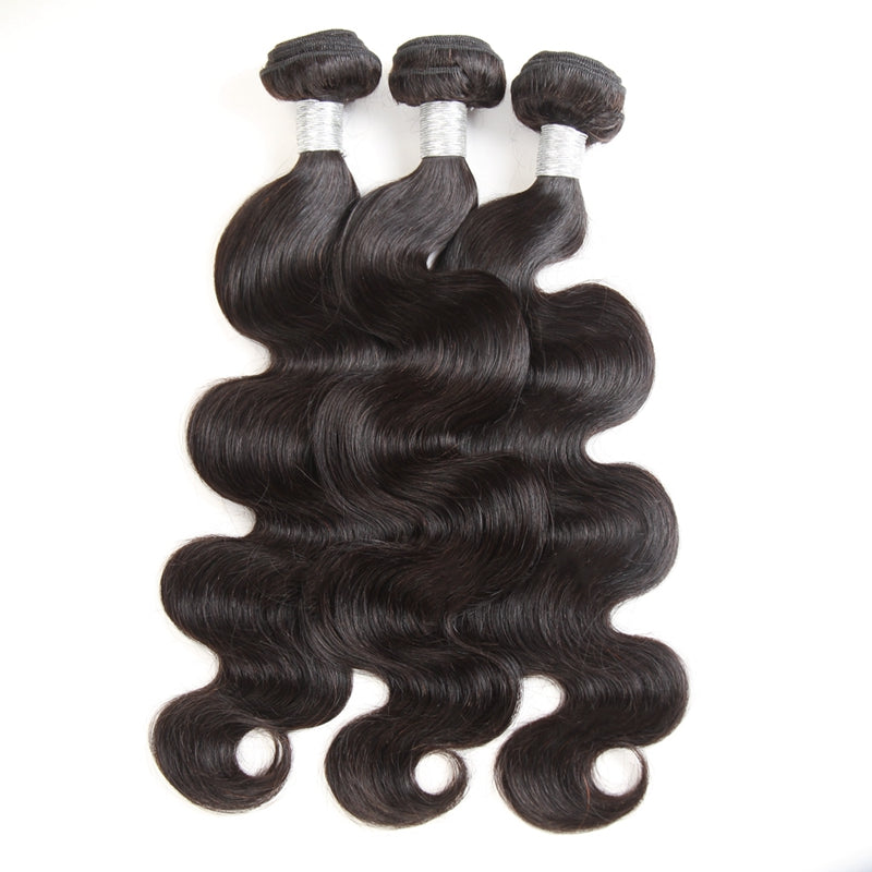 3 Bundles Deal With Closure Peruvian Virgin Hair Body Wave