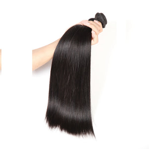 3 Bundles Deal With Frontal Peruvian Virgin Hair Straight