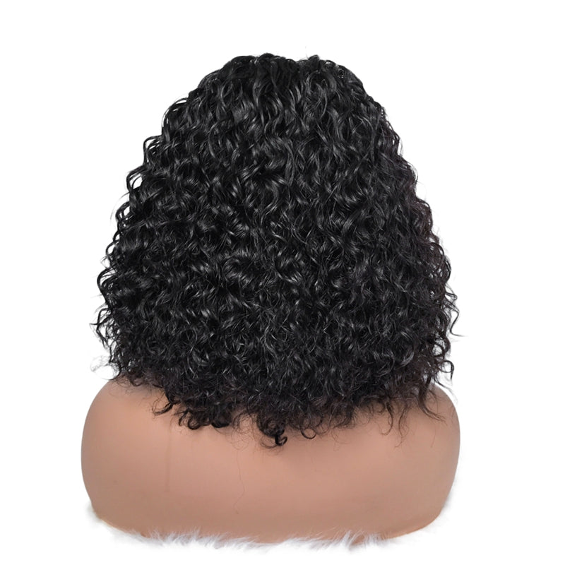 Curly Closure Bob Wig 100% Virgin Human Hair