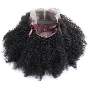 Closure Wig Virgin Human Hair Afro Kinky Curl