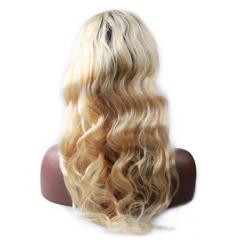 Full Lace Wig Virgin Body Wave T4/613 Blonde