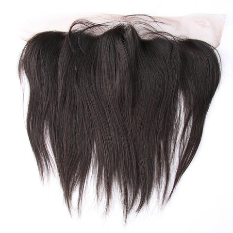 Pre Plucked 4*13 Frontal Kinky Straight Brazilian virgin hair
