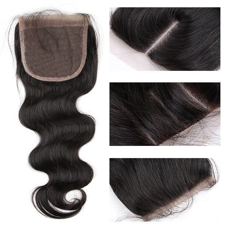 4*4 Top Lace Closure Body Wave Brazilian virgin hair