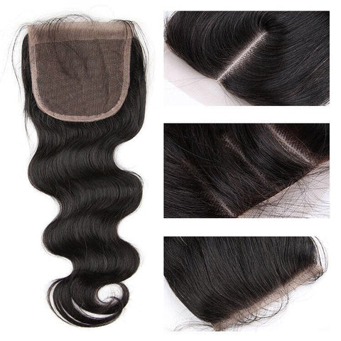 4*4 Top Lace Closure Water Wave Brazilian virgin hair