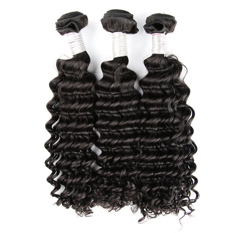 Dark Blue Color 3 Bundles Deal With Frontal 100% Virgin Human Hair Body Wave