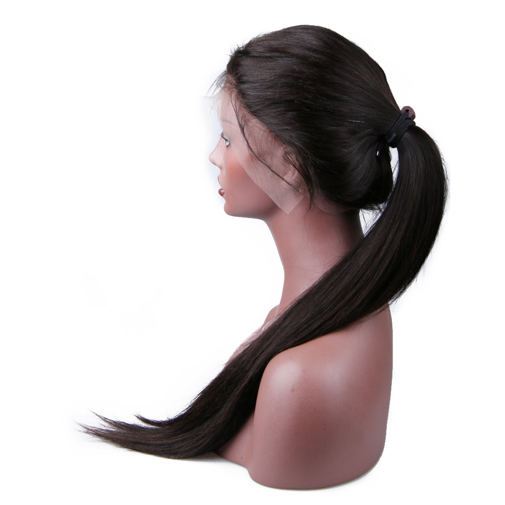 Full Lace Wig Virgin Human Hair Straight