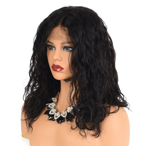 Full Lace Wig Virgin Human Hair Deep Curl