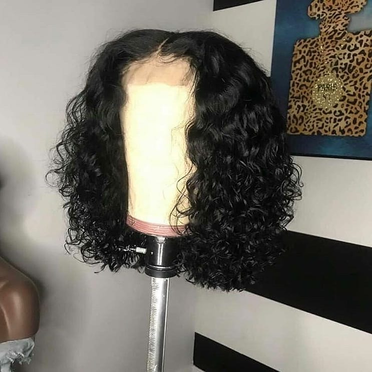 Water Wave Closure Bob Wig 100% Virgin Human Hair