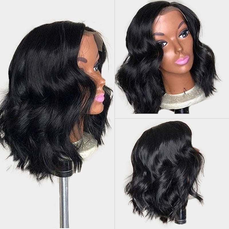 Loose Wave Closure Bob Wig 100% Virgin Human Hair