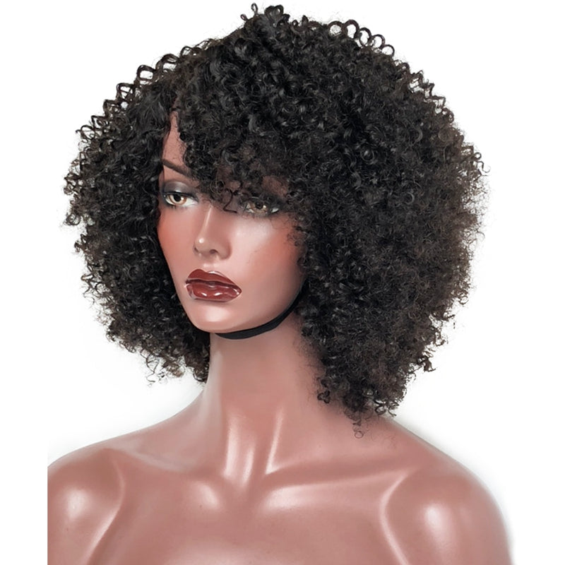 Special-Offer Weft Wig No Lace Afro Kinky Curl  Virgin Human Hair