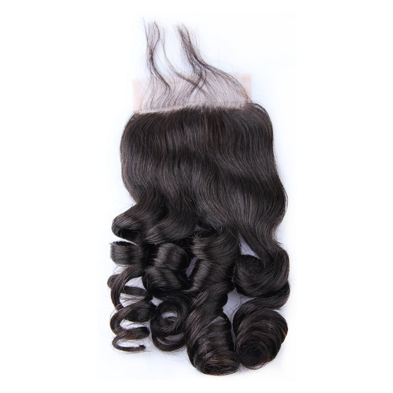 4*4 Top Lace Closure Loose Wave Brazilian virgin hair