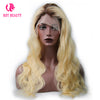 Special Offer-1b/ Blue Closure Wig 100% Virgin Human Hair Straight