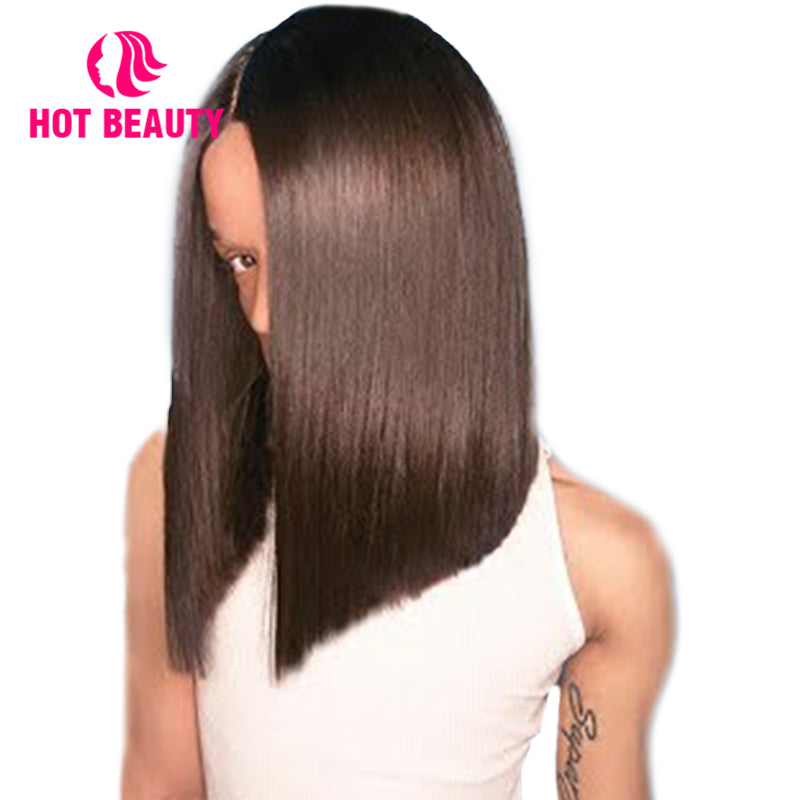 "Special offer-Closure Wig 2""*6"" Kim K Closure Bob Wig  Virgin Human Hair"