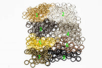 6mm-Jump Ring- 1.0mm- 19 Gauge Thickness-High Quality-90 pcs- 8 colors