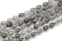 Cloudy Quartz-  Smooth Teardrop- Beads- 2 Sizes- Special Shape- Full Strand- 16 Inches