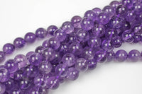 AAA Quality Natural AMETHYST Gemstone Beads Smooth Round 6mm 8mm 10mm- Medium Light Color AAA Quality