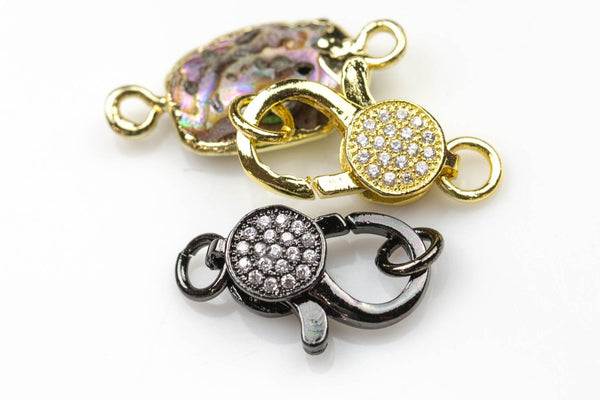Pave CZ  Lobster Medium Size 8*15mm