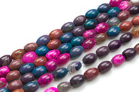Natural Agate-  Barrel Shape-3 Sizes- Special Shape- Full Strand- 16 Inches Gemstone Beads