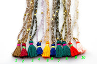 Skinny Leo With Tassel- Long Necklace- Perfect for Layering