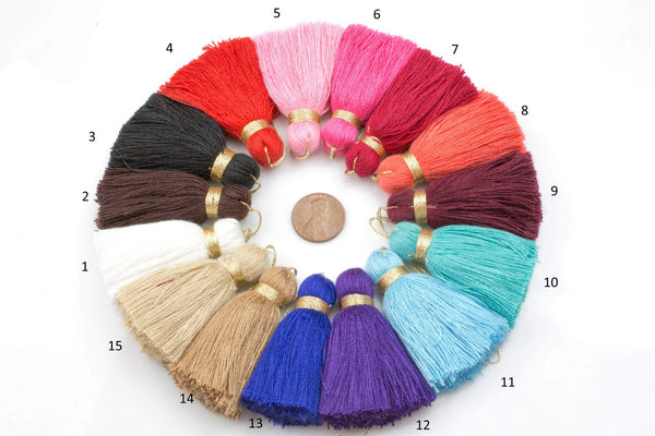 Puffy Cotton Tassel Tassels Tassles High Quality Extra Thick 4 pcs. *Please read description*
