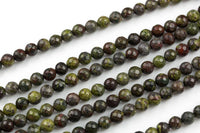 Gorgeous Faceted Dragon Bloodstone Blood Stone Jasper, High Quality in Faceted Round, 6mm 8mm 10mm 12mm- Full 15.5 Inch - Wholesale Pricing
