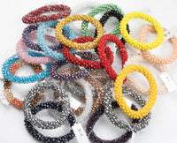 Beautiful Crystal Bracelets! Hand Weaved - Beautiful Colors!