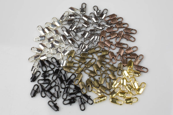 Straight Lobster Clasps 11mm - Gold, Silver, Copper, Black, Gunmetal Plated- 11mm- 50 Pieces per Order- High Quality-#801