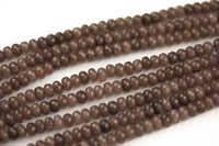 GORGEOUS Rust Brown sJade High Quality in Faceted Rondelle- 6mm and 8mm-Full Strand 15.5 inch Strand